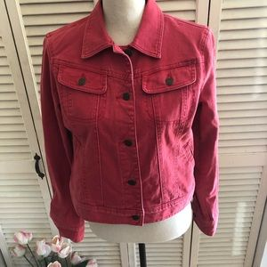 Red Ralph Lauren Light Washed Jean Jacket Size M